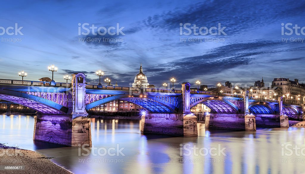 Southwark bridge royalty-free stock photo