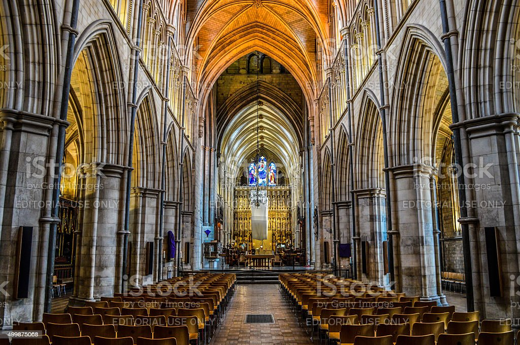 Southwark Cathedral Interior - London, UK stock photo
