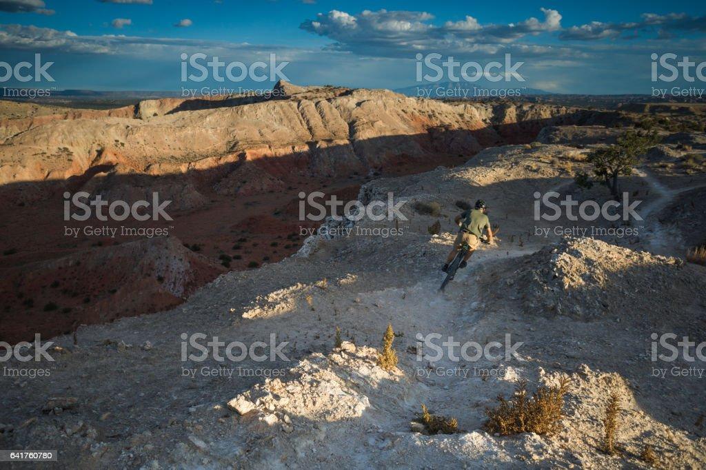 southwest adventure mountain biking man stock photo