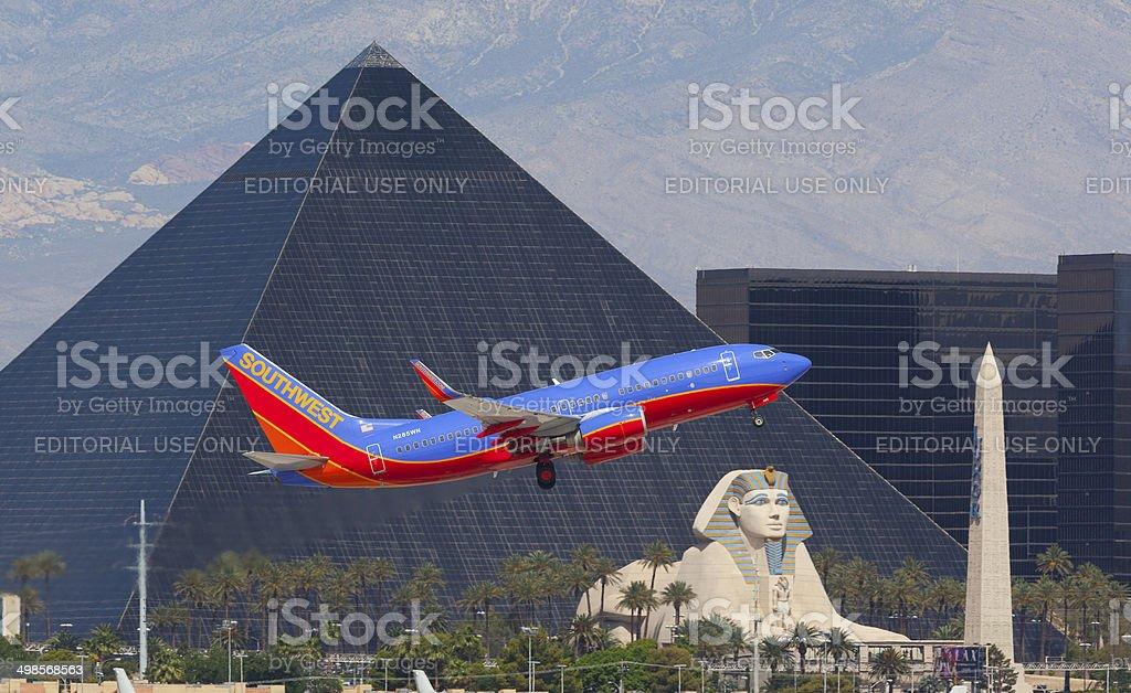 Southwest Airlines 737 Las Vegas. stock photo