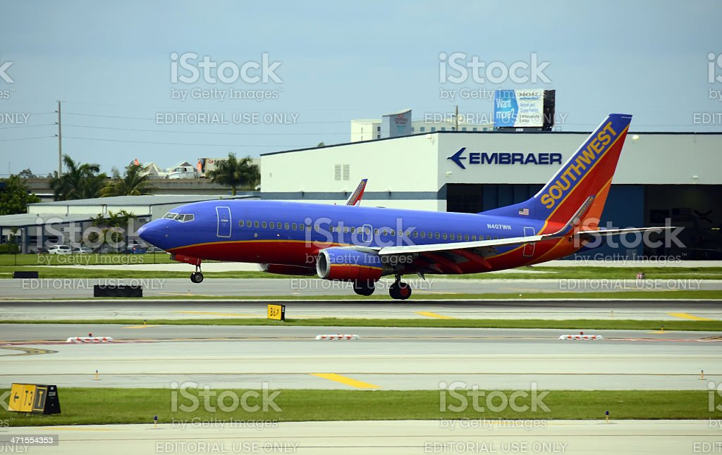 Southwest Airlines Boeing 737 passenger jet royalty-free stock photo