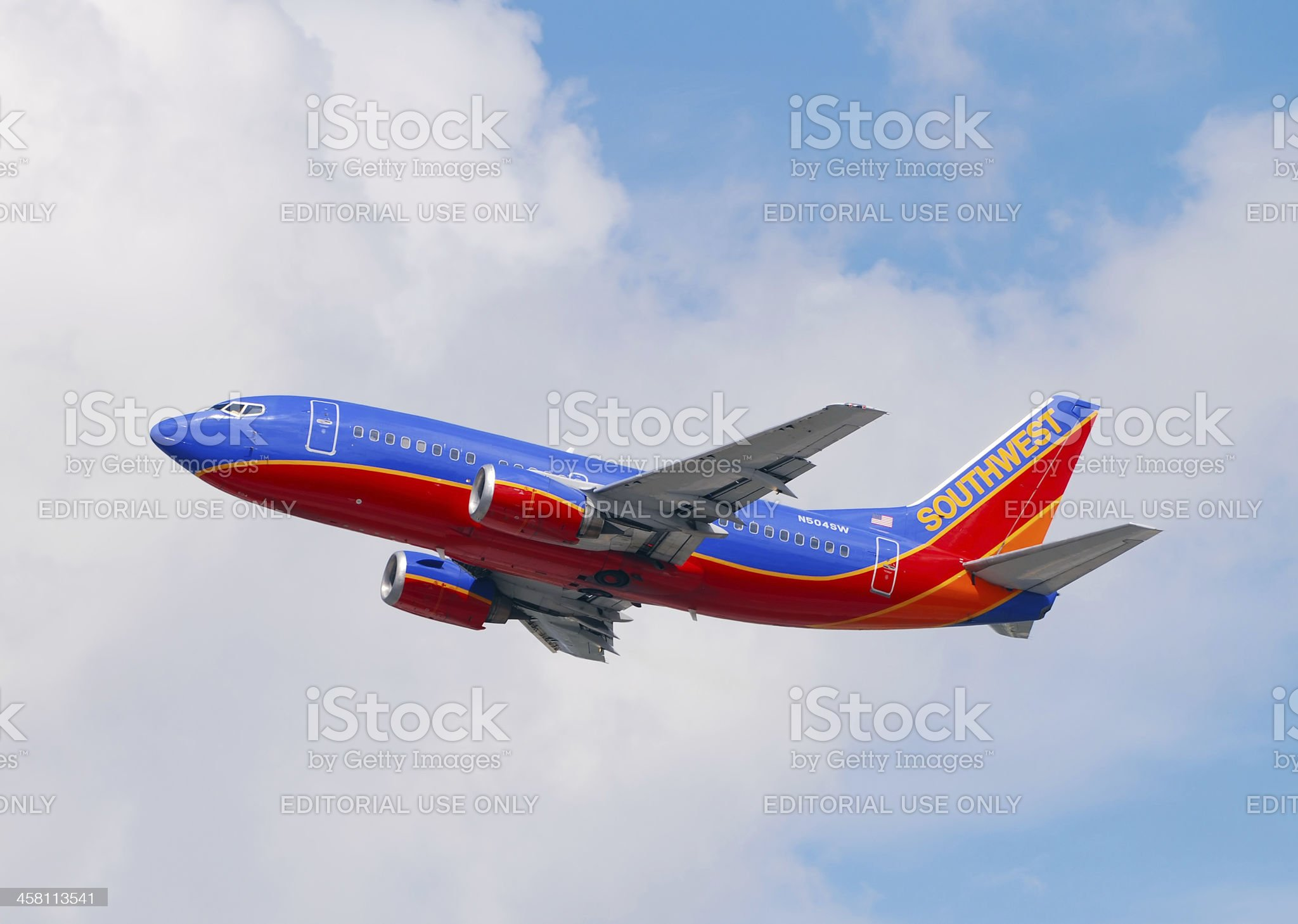 Southwest Airlines Boeing 737 royalty-free stock photo