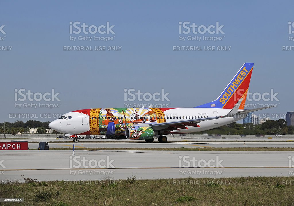 Southwest Airlines Boeing 737-700 jet royalty-free stock photo