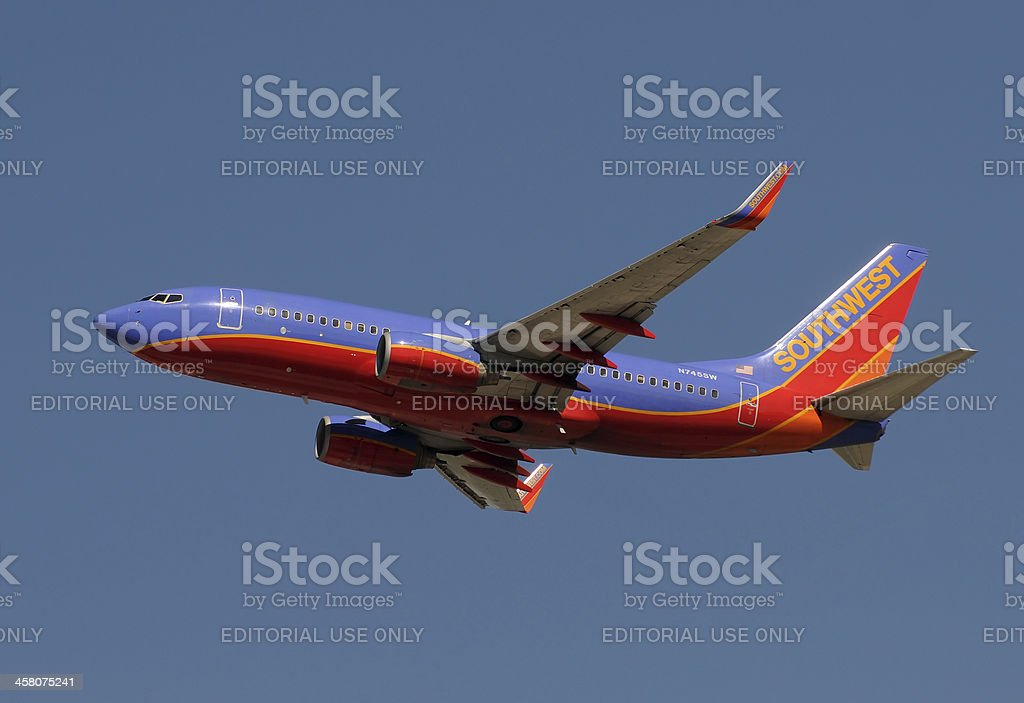 Southwest Airlines jet airplane royalty-free stock photo