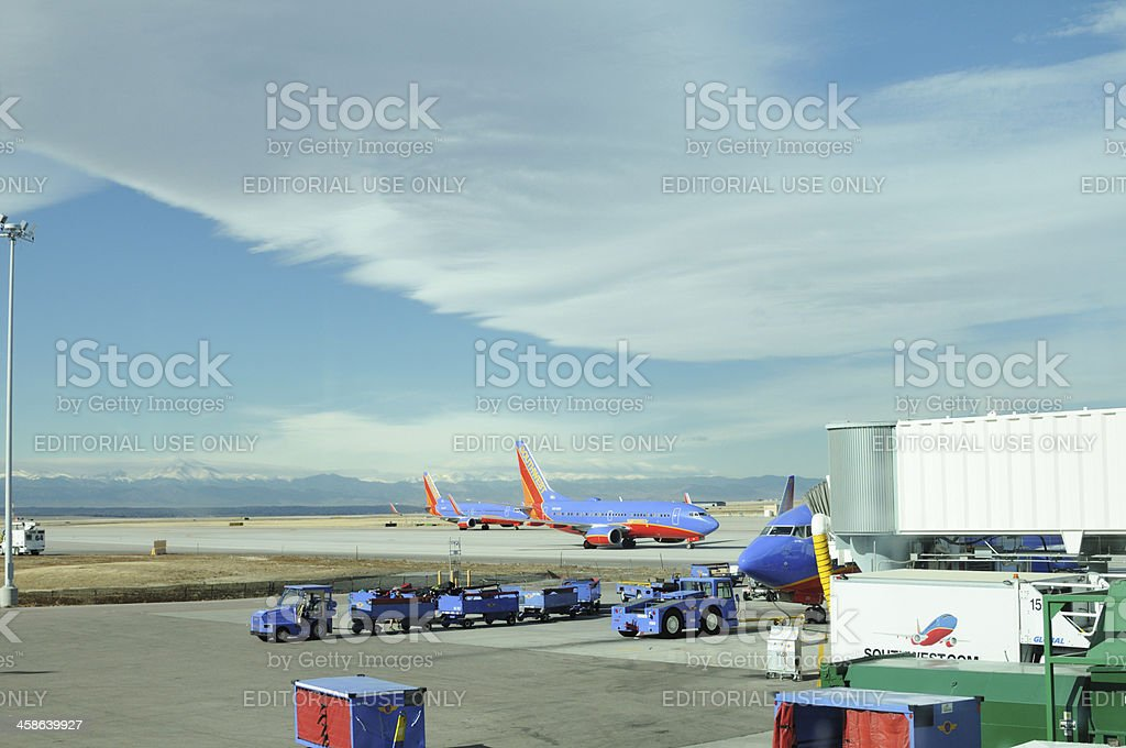 Southwest airlines planes stock photo