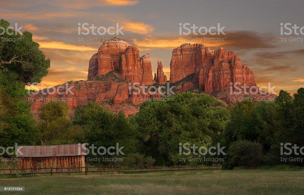 Southwest Arizona Red Rock Landscape stock photo