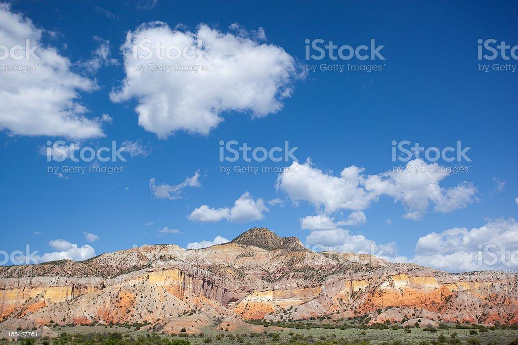 southwest badlands landscape stock photo