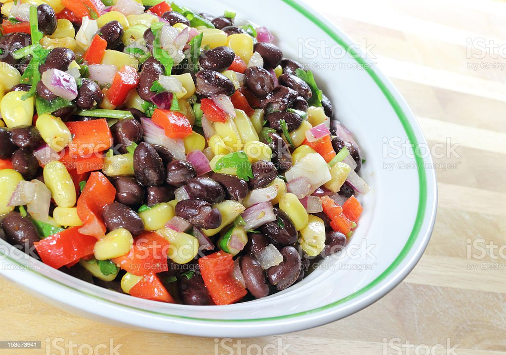 Southwest Black Bean Salad stock photo