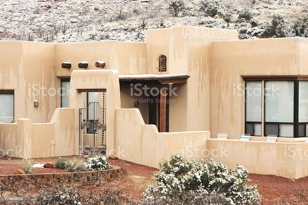 Southwest Desert Home Architecture royalty-free stock photo