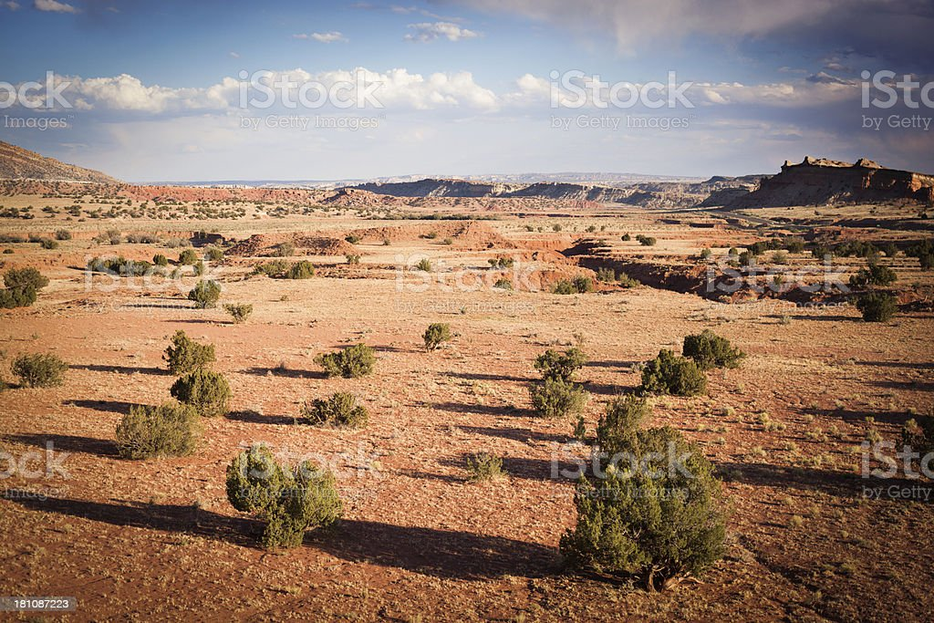southwest desert landscape stock photo