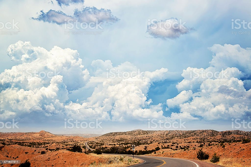 Southwest Highway in Georgia O'Keeffe Country royalty-free stock photo