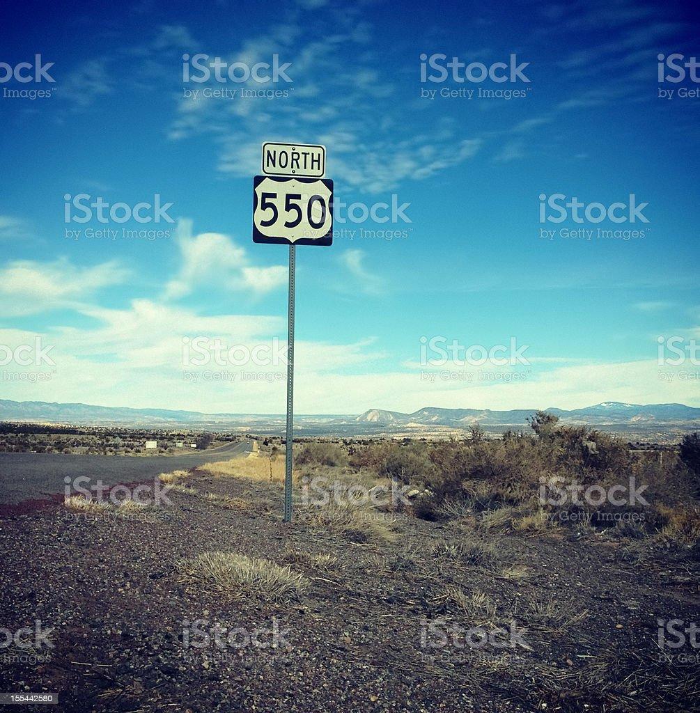 southwest landscape road trip stock photo