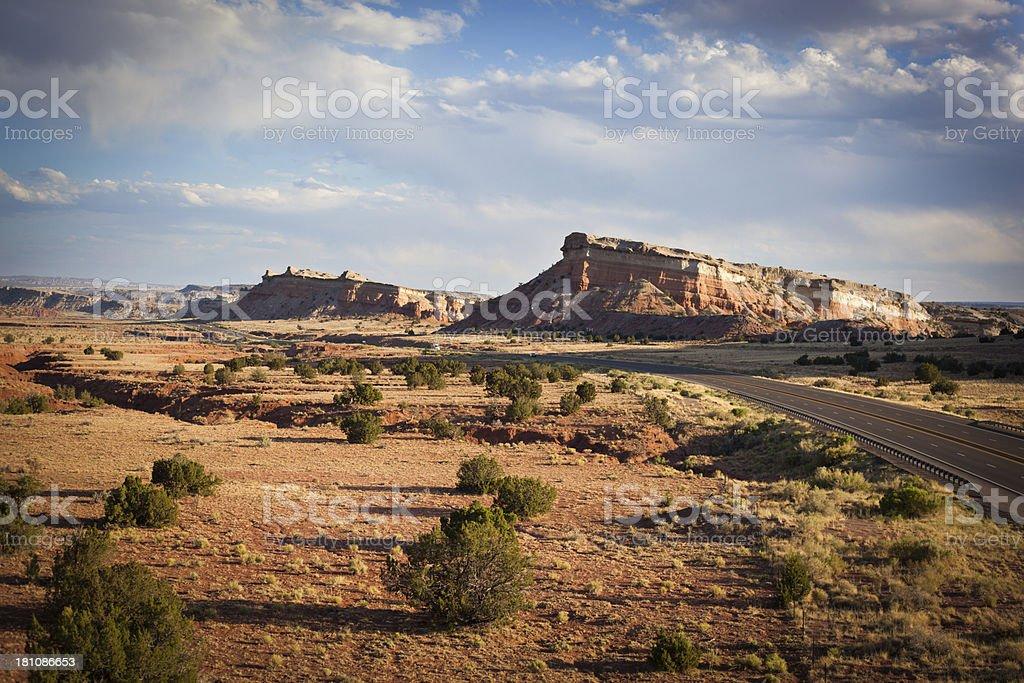 southwest landscape road trip royalty-free stock photo