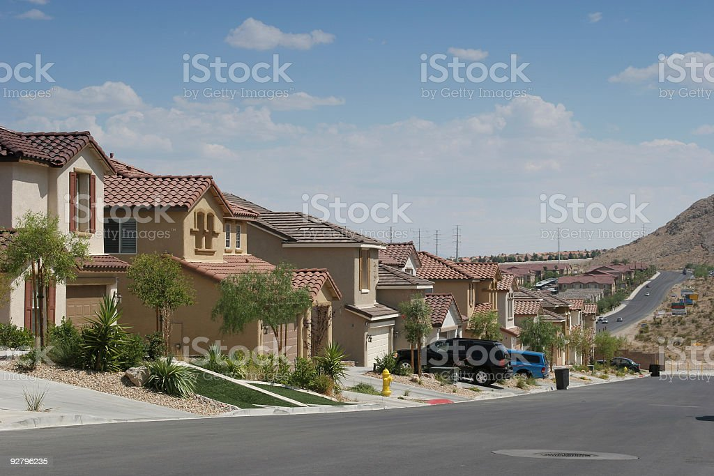 Southwest neighborhood homes stock photo