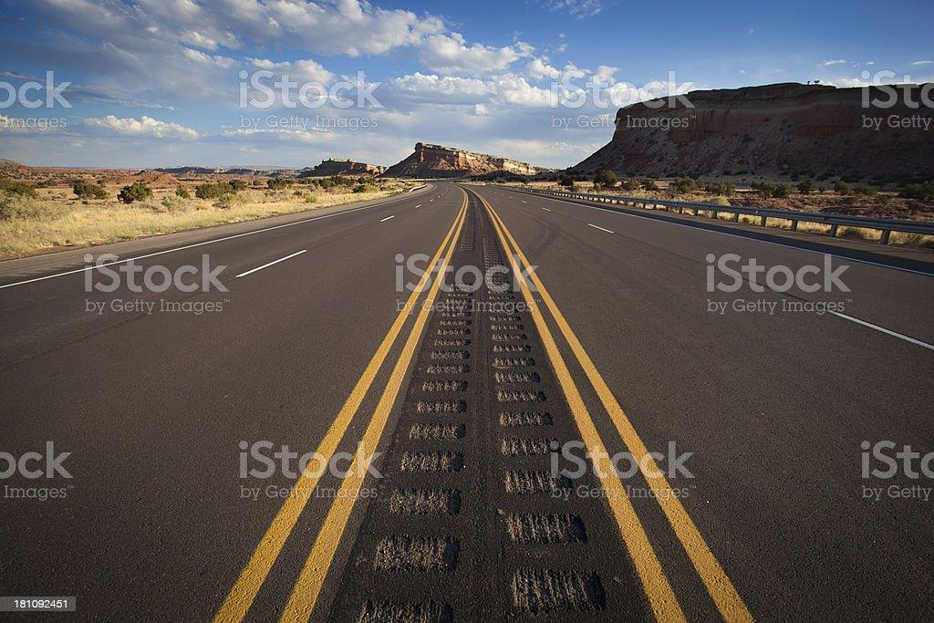 southwest road trip landscape stock photo
