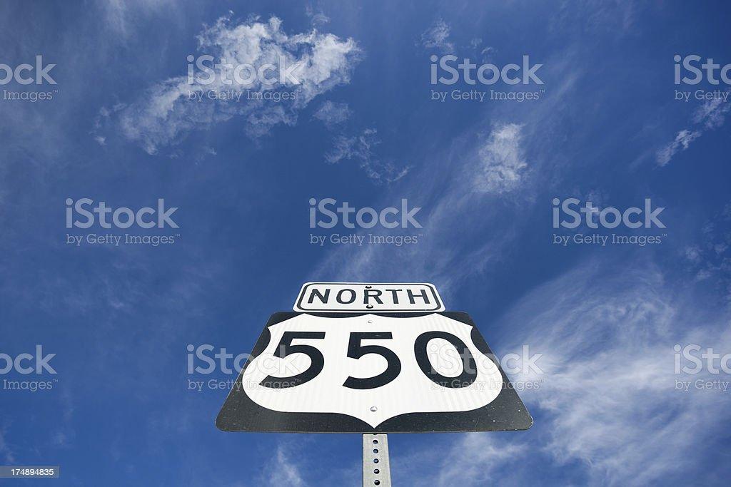 southwest road trip sky stock photo