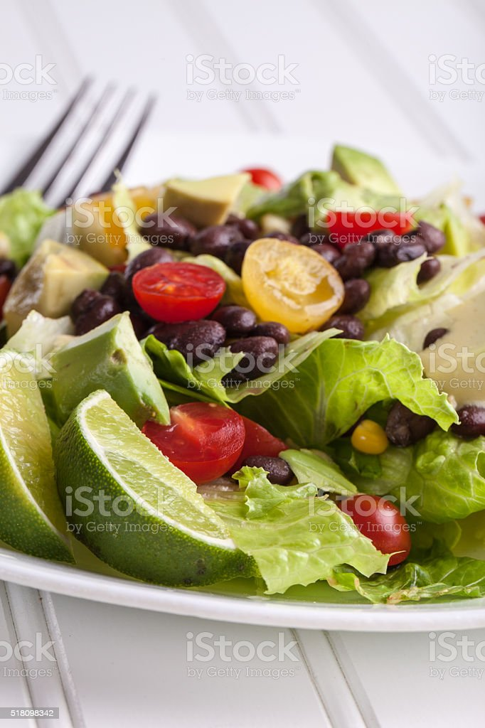 Southwest Salad close up stock photo