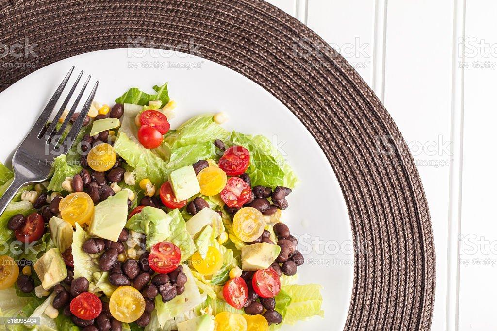 Southwest Salad cropped off shot stock photo