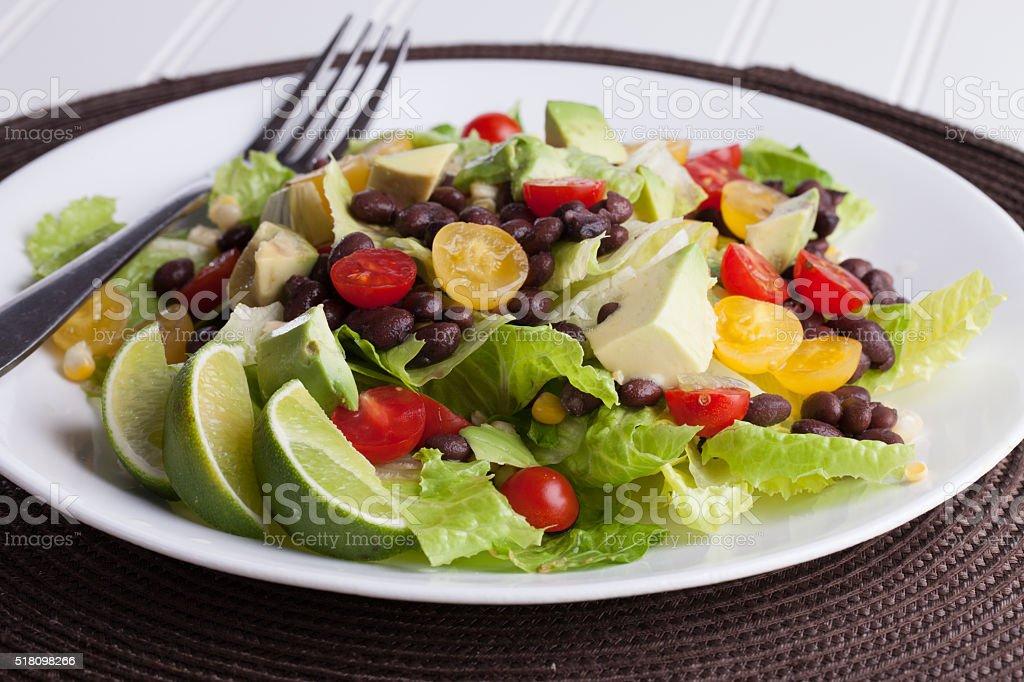 Southwest Salad macro shot stock photo