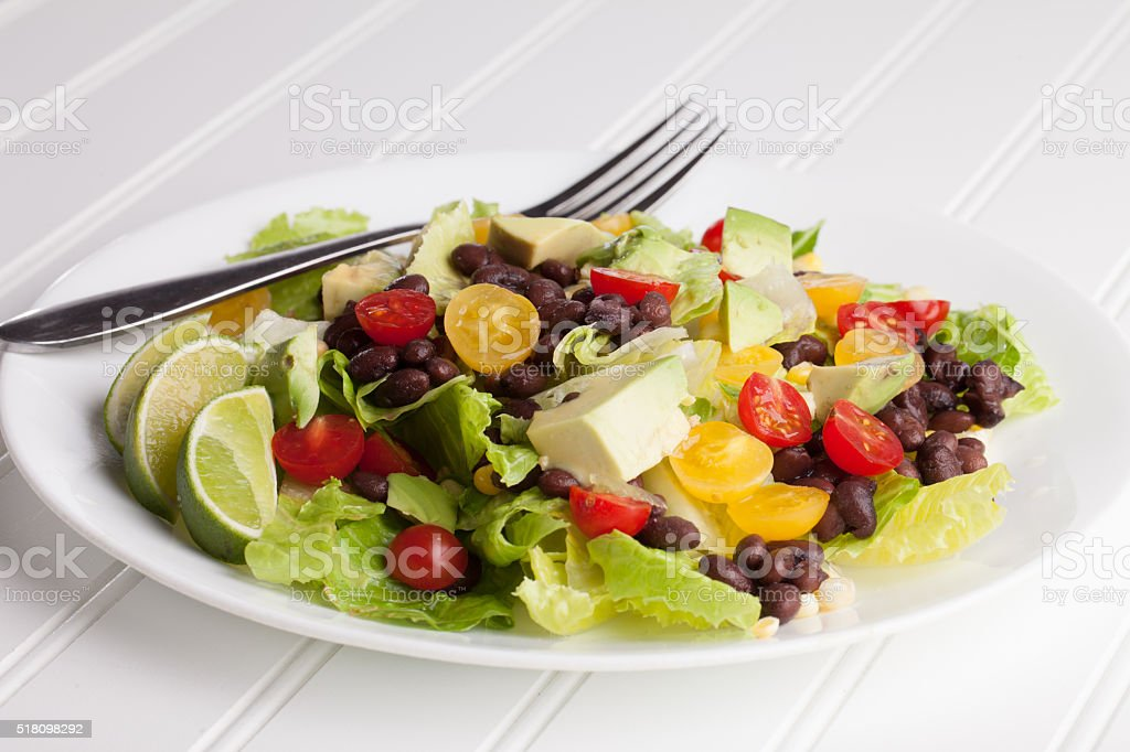 Southwest Salad no water stock photo