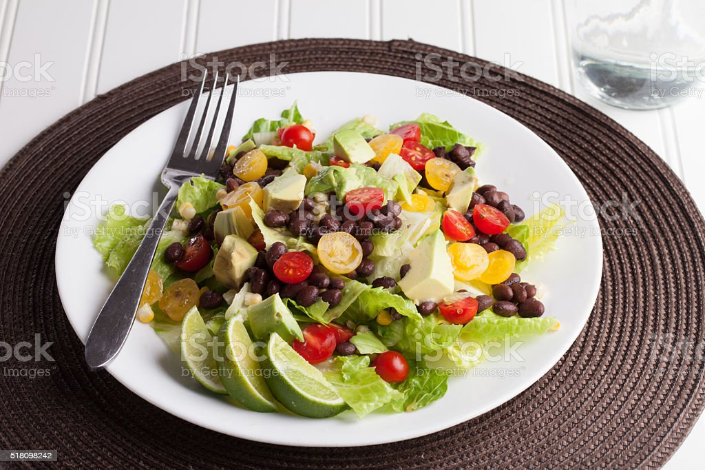 Southwest Salad top view stock photo