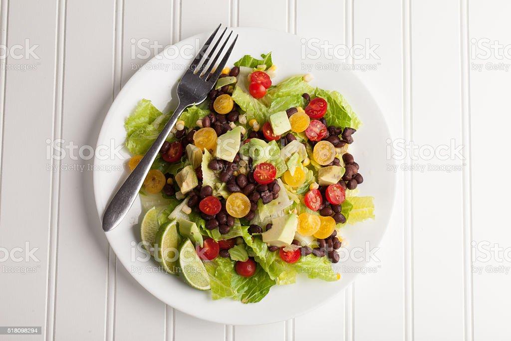Southwest Salad top view stock photo