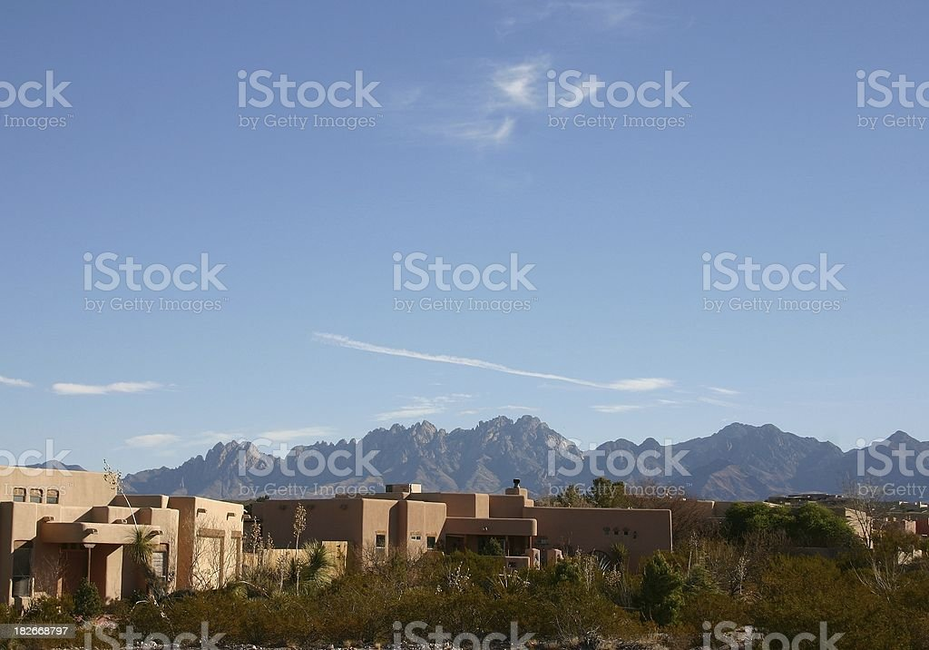 Southwest subburban living royalty-free stock photo