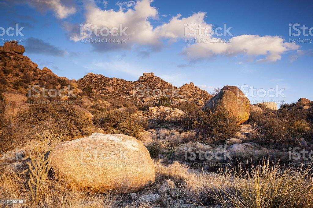 southwest sunset landscape stock photo