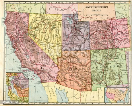 Southwest Usa Map Stock Photo IStock - Southwestern usa map