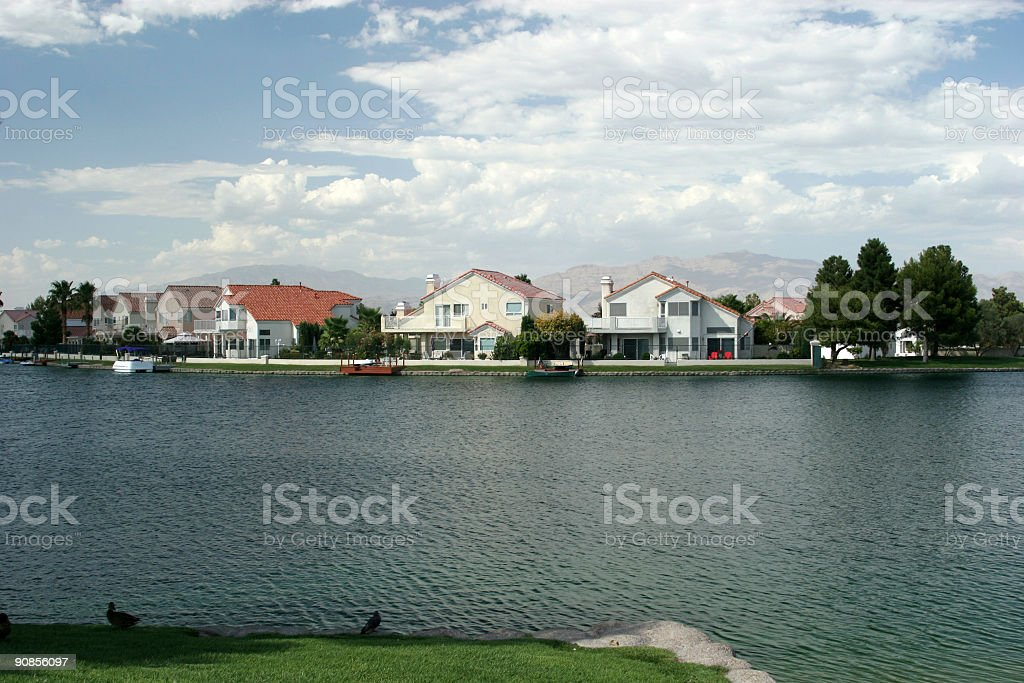 Southwest Waterfront Homes royalty-free stock photo