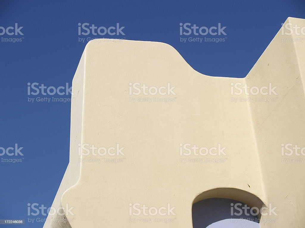 Southwestern Adobe Abstract Architecture stock photo
