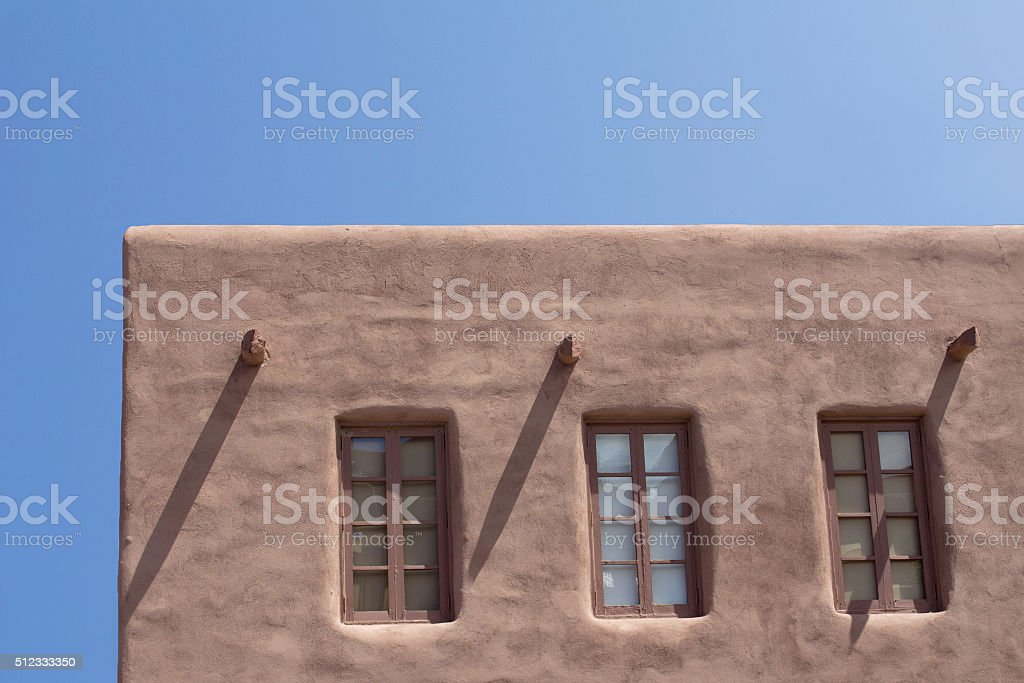 Southwestern Adobe Architecture stock photo