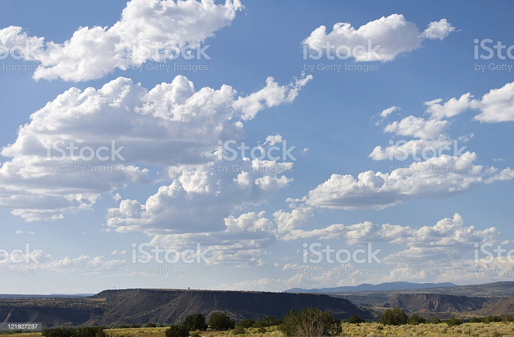 Southwestern Landscape with Sandia Mountains royalty-free stock photo