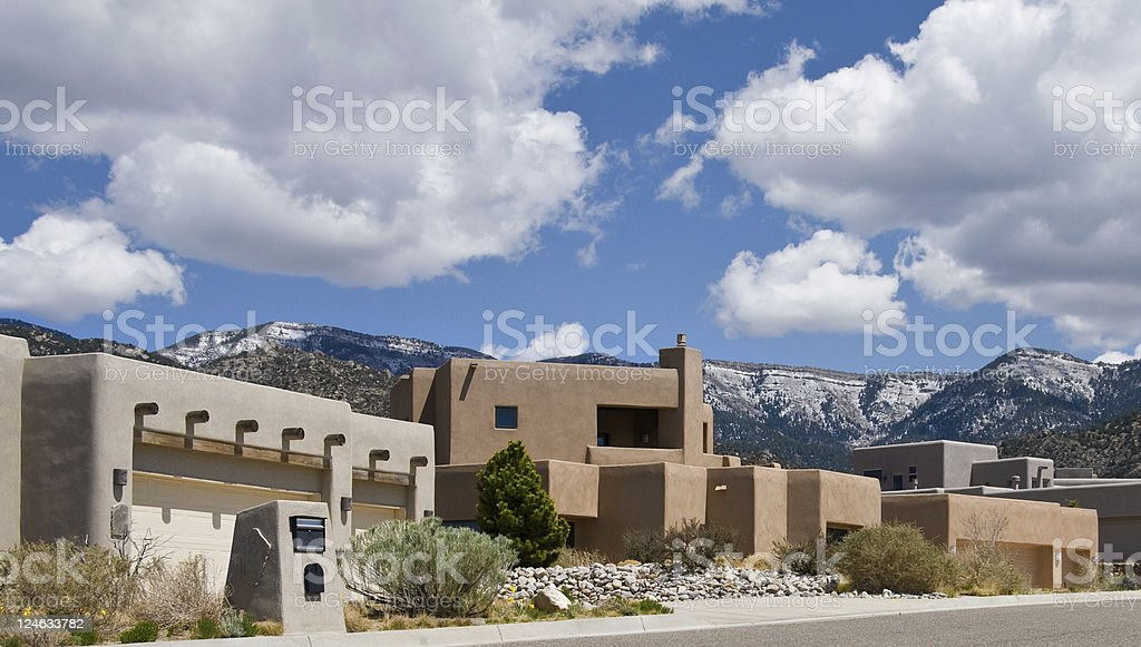 Southwestern Luxury Home, Albuquerque, New Mexico stock photo
