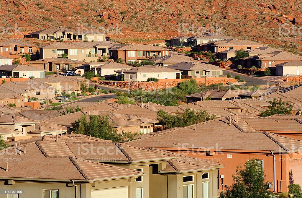 Southwestern sprawl royalty-free stock photo