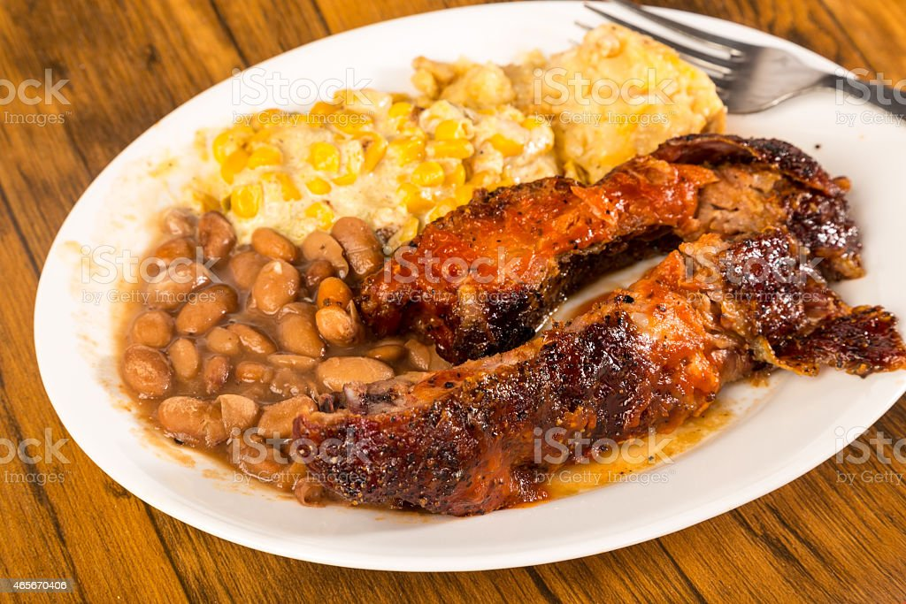 Southwestern Style BBQ Plate stock photo