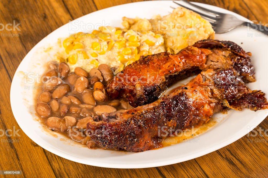Southwestern Style BBQ Plate stock photo