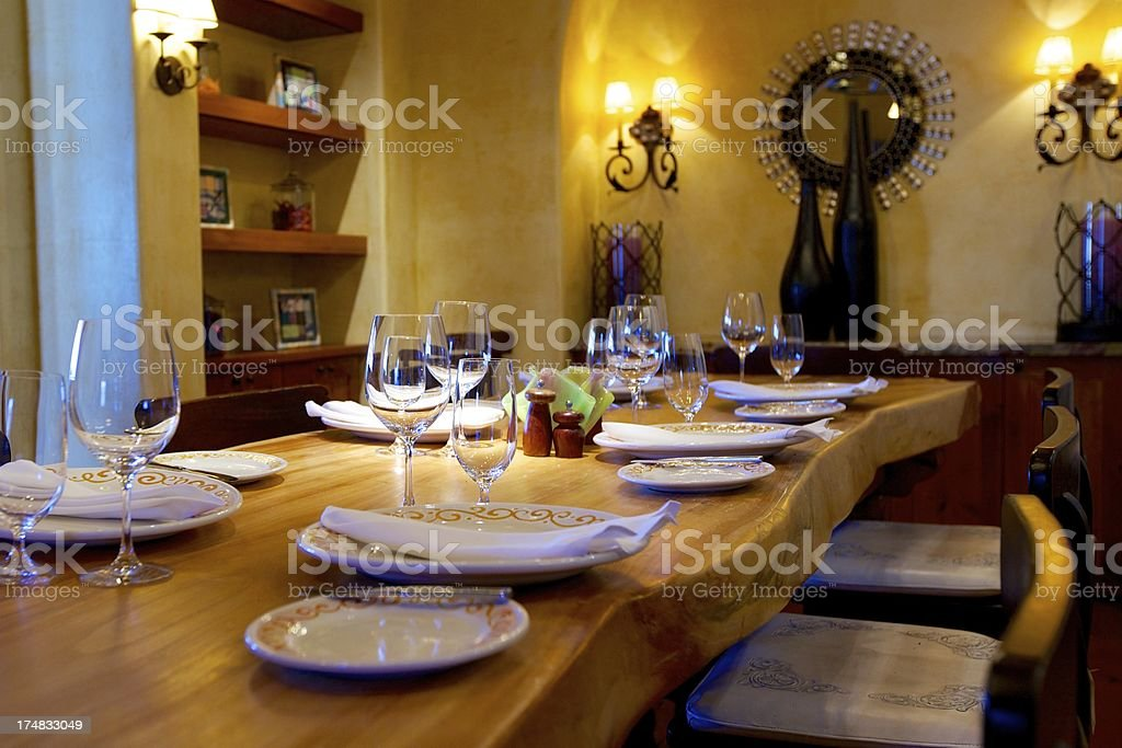 Southwestern Style Dining royalty-free stock photo
