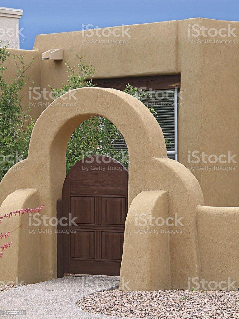 Southwestern Style Gate royalty-free stock photo