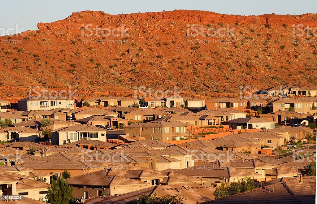 Southwestern suburb 2 stock photo