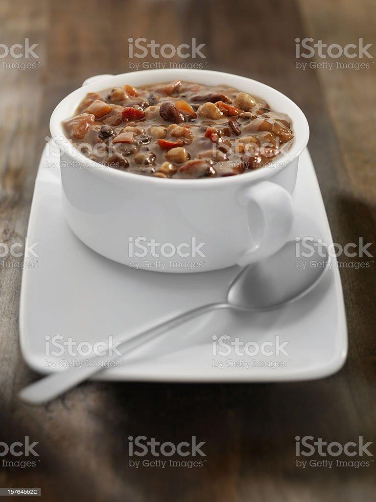 Southwestern Three Bean Soup royalty-free stock photo