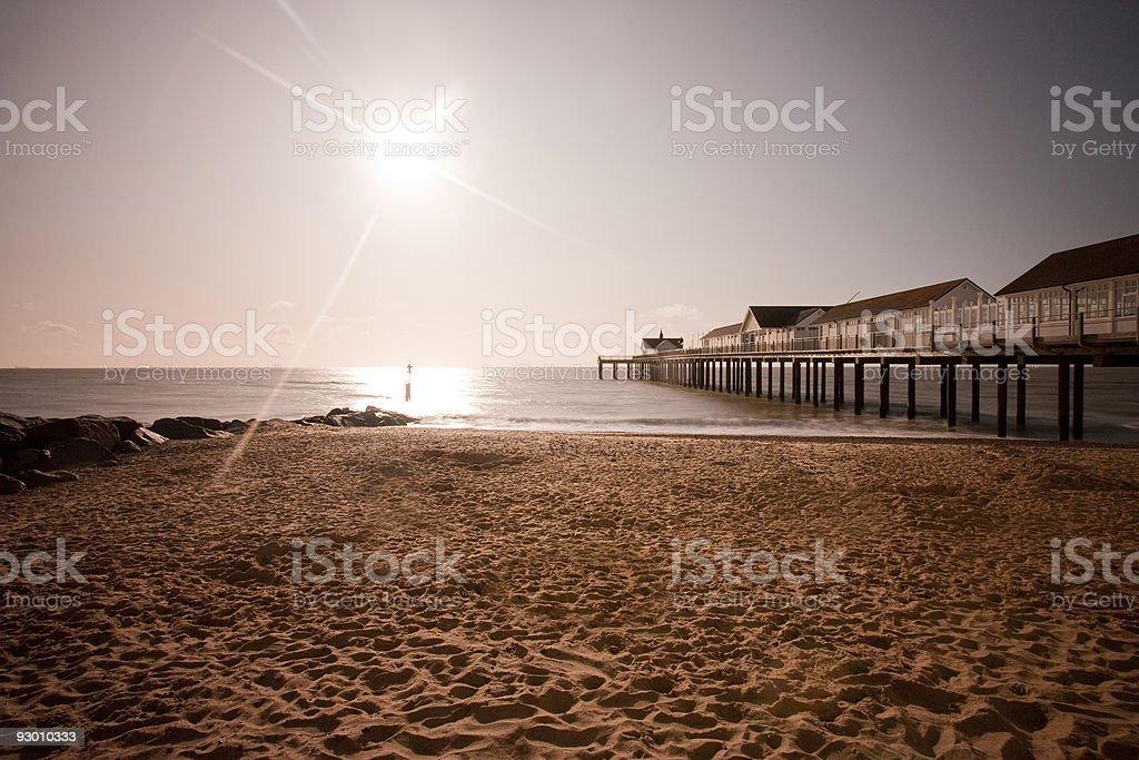 southwold beach und pier Lizenzfreies stock-foto