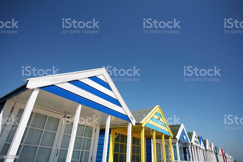 Southwold Beach Huts stock photo