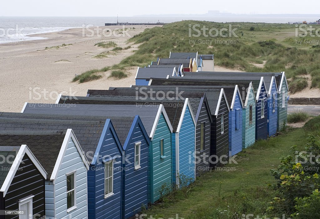 Southwold Beach looking towards Sizewell, Suffolk, England royalty-free stock photo