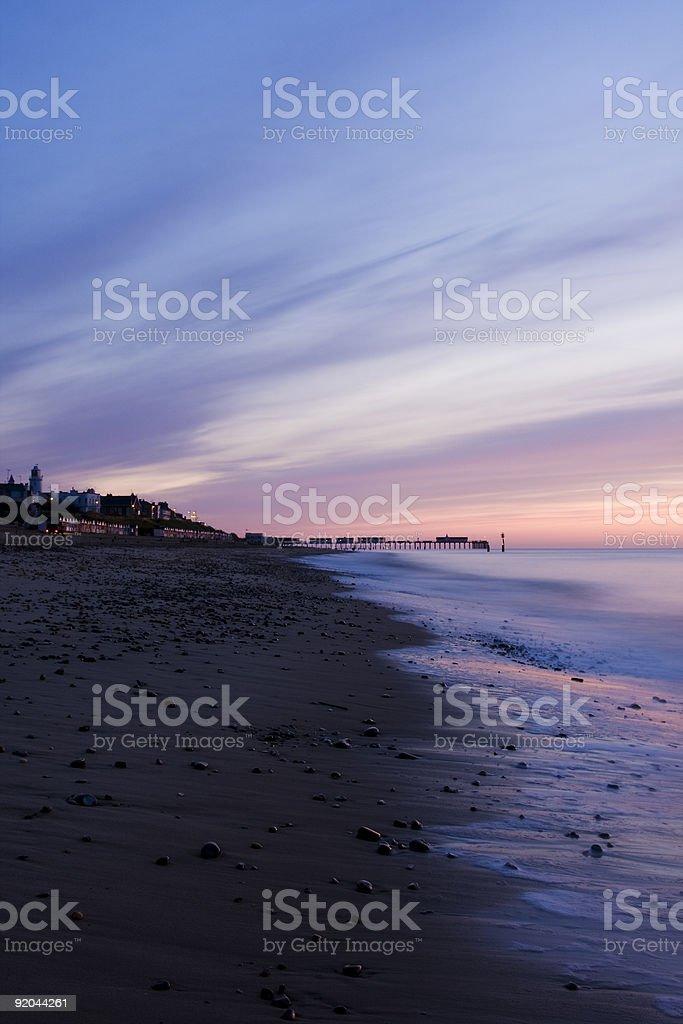 Plaża Southwold zbiór zdjęć royalty-free