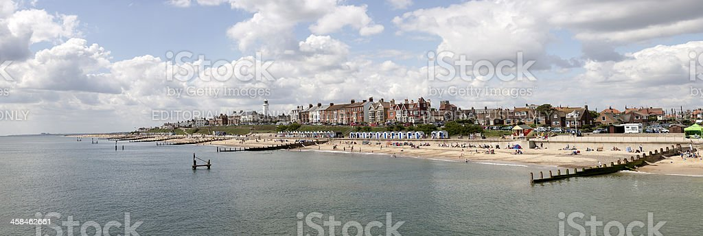 Southwold beachfront from the pier stock photo