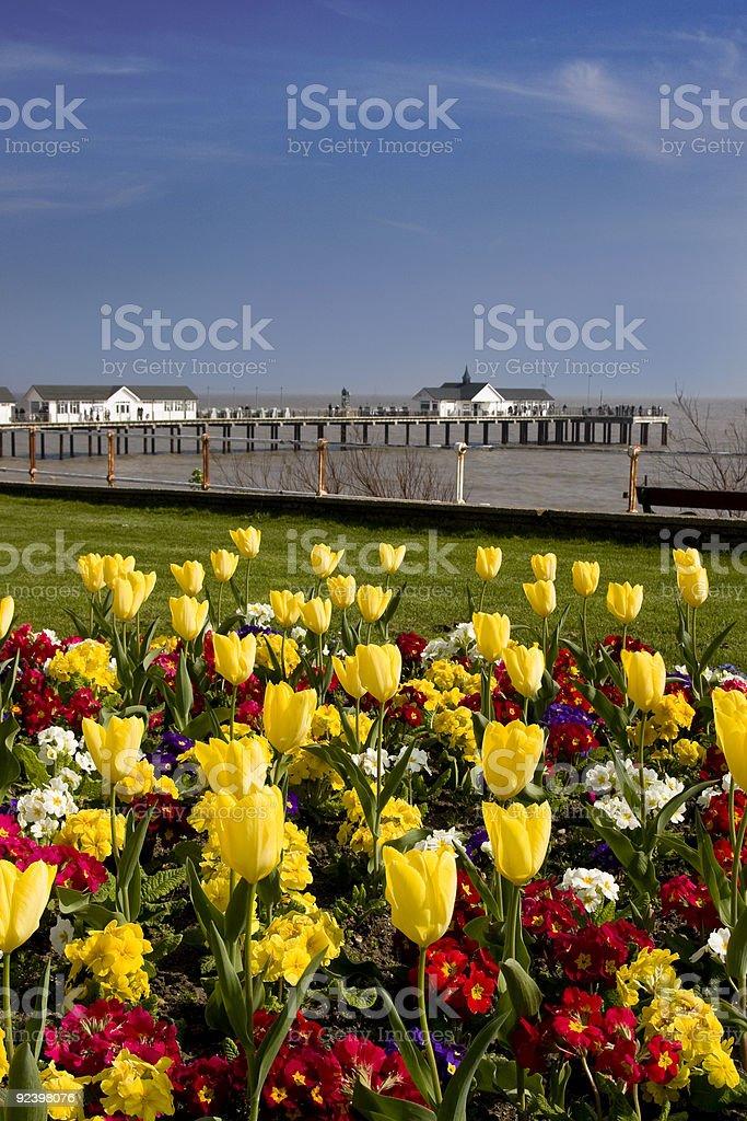 Southwold w wiosennym zbiór zdjęć royalty-free