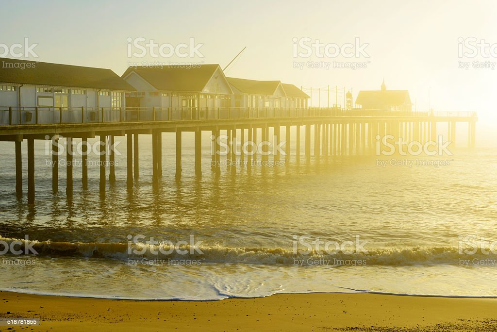 Southwold Pier at Dawn stock photo
