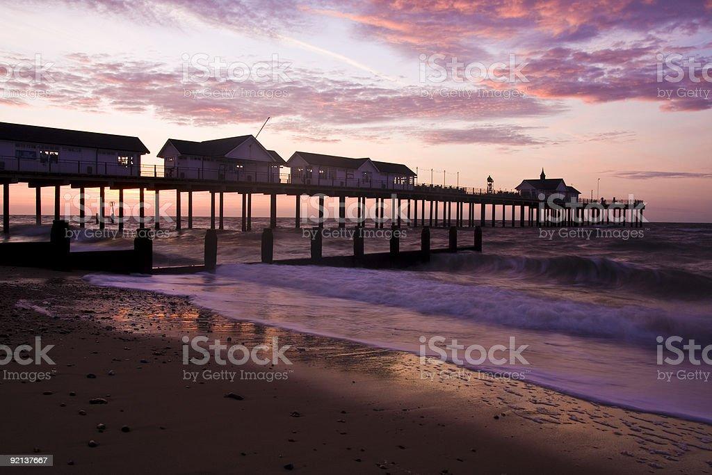 Southwold Sunrise stock photo
