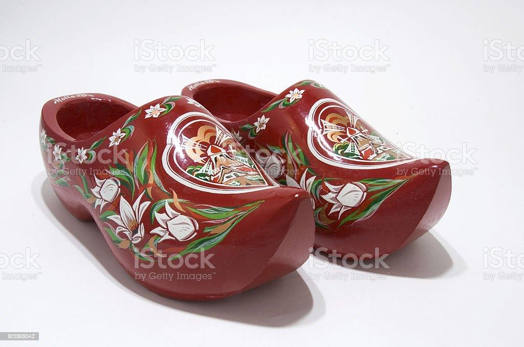 Souvenier Wooden Shoes stock photo